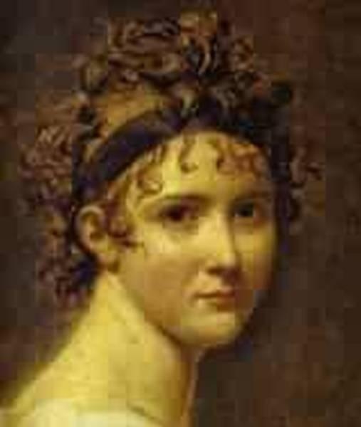 Portrait of mme recamier detail 1800 xx louvre paris france